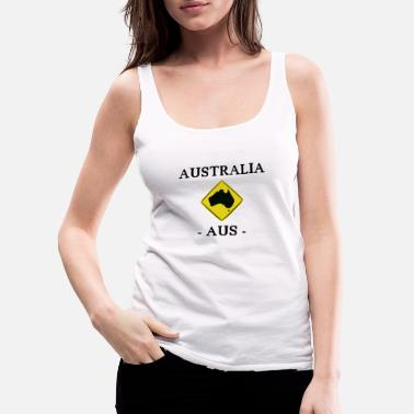 Road Sign Australia Australia - AUS - Map - Road Sign - Women's Premium Tank Top