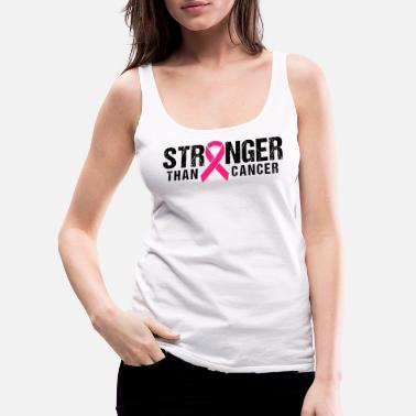Breast Cancer Month Stronger Than Cancer Pink Ribbon Breast Cancer - Women's Premium Tank Top