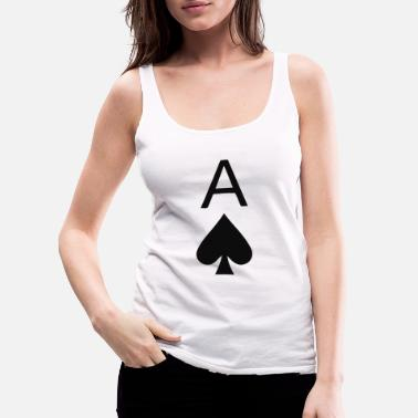 Ace Ace Of Spades - Women's Premium Tank Top