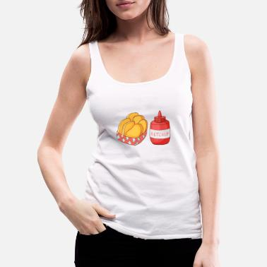 Restaurant French Fries Ketchup - Women's Premium Tank Top