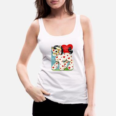 Valentine's Day, white toy horse with red hearts. - Women's Premium Tank Top