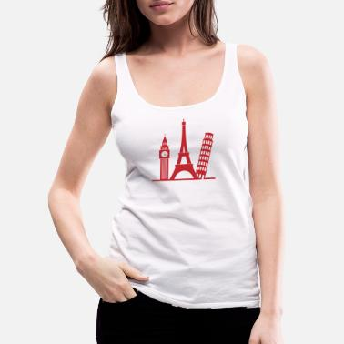London Europe / London,Paris,Pisa - Women's Premium Tank Top