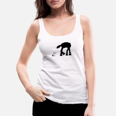 R2d2 R2D2 vs AT-AT - Women's Premium Tank Top