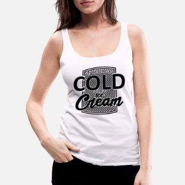 Strawberry Ice Cream Frosty Foodie Black Funny Gift - Women's Premium Tank Top