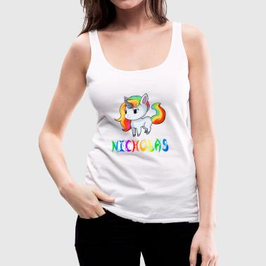 Nicholas Unicorn - Women's Premium Tank Top