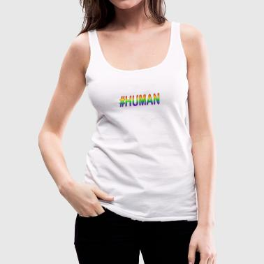 #HUMAN (in PRIDE Colors) - Women's Premium Tank Top