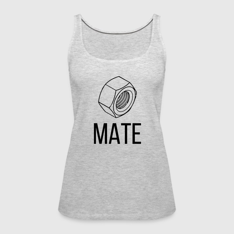 NUT AND BOLT SOUL MATE MAN WOMAN COUPLE - Women's Premium Tank Top
