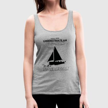 With A Sailboat - Women's Premium Tank Top