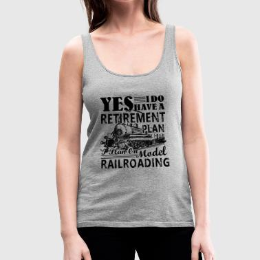 Model Railroading Shirt - Model Railroading Tshirt - Women's Premium Tank Top