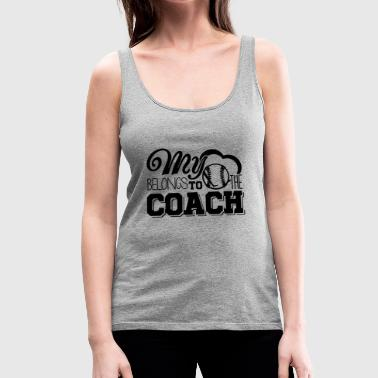My Heart Belongs To Baseball Coach Shirt - Women's Premium Tank Top