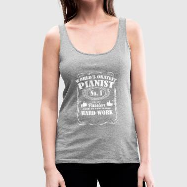 Okayest pianist in the world - tee shirts - Women's Premium Tank Top