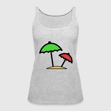Beach Umbrella Cute Gift Idea - Women's Premium Tank Top