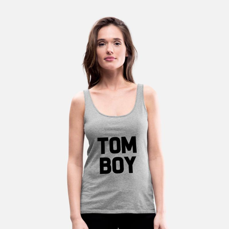 Tomboys Tank Tops - Tomboy funny women's shirt - Women's Premium Tank Top heather gray