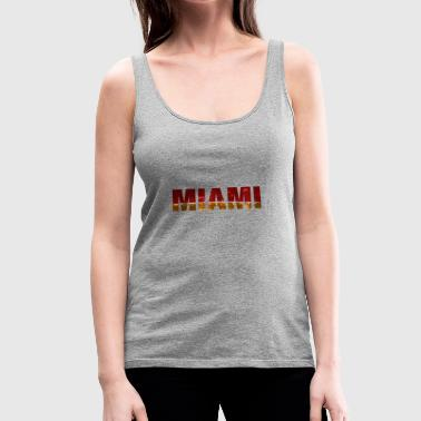 miami heat by night - Women's Premium Tank Top