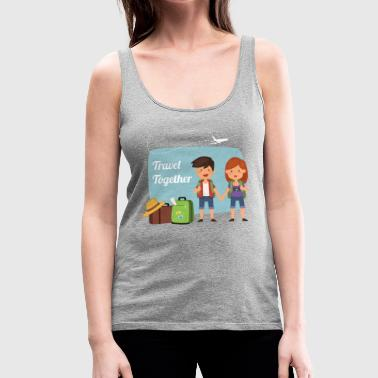 Travel Together - Women's Premium Tank Top