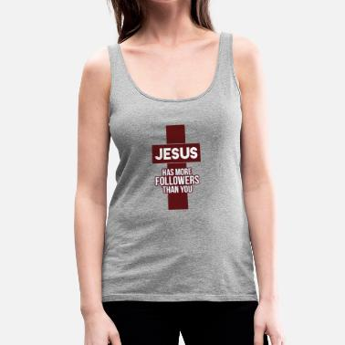 jesus has more followers - Women's Premium Tank Top