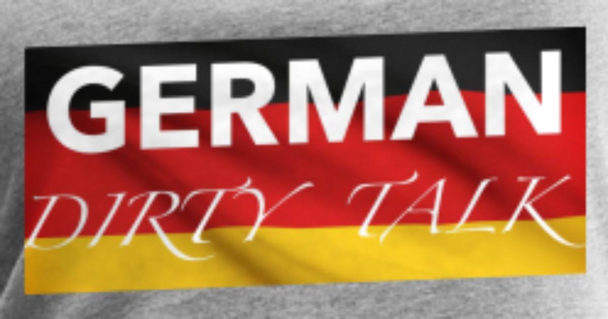 German Dirty Talk - Flag Logo Womens Premium Tank Top