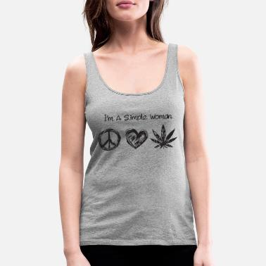 I'm a simple woman hippie love weed - Women's Premium Tank Top