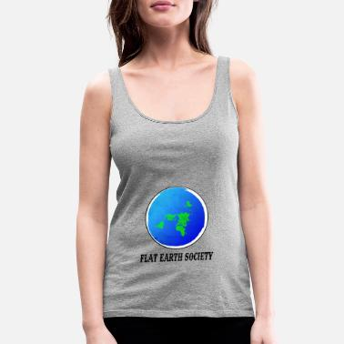 Showtek Flat Earth Society - Women's Premium Tank Top