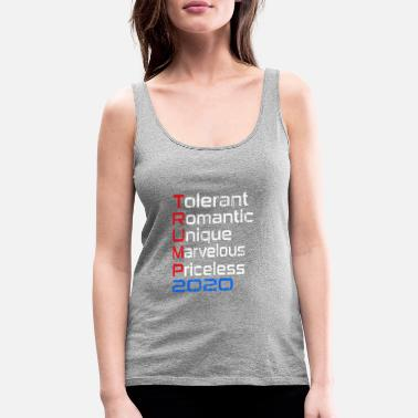 Trump 2020 T-shirt - Women's Premium Tank Top