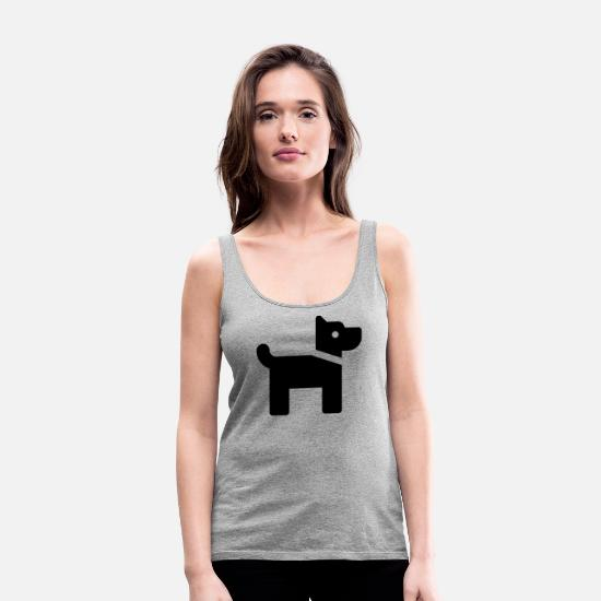 Dog Owner Tank Tops - Doggy - Women's Premium Tank Top heather gray