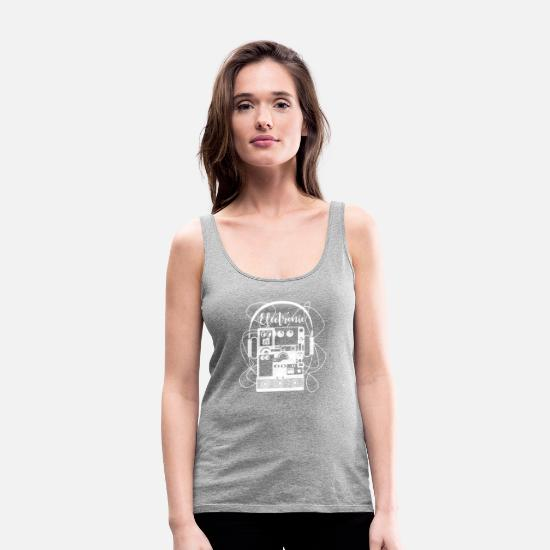Electronics Tank Tops - Electronic items - Women's Premium Tank Top heather gray