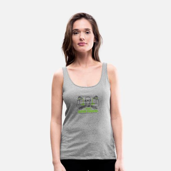 Art Tank Tops - FORGET-LAB-SAFETY - Women's Premium Tank Top heather gray