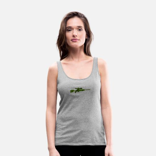 Special Forces Tank Tops - Sniper army - Women's Premium Tank Top heather gray