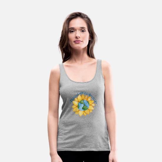 Reduced Tank Tops - Reduce reuse recycle - Women's Premium Tank Top heather gray