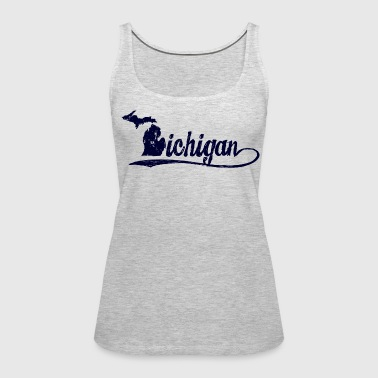 Michigan Script - Women's Premium Tank Top