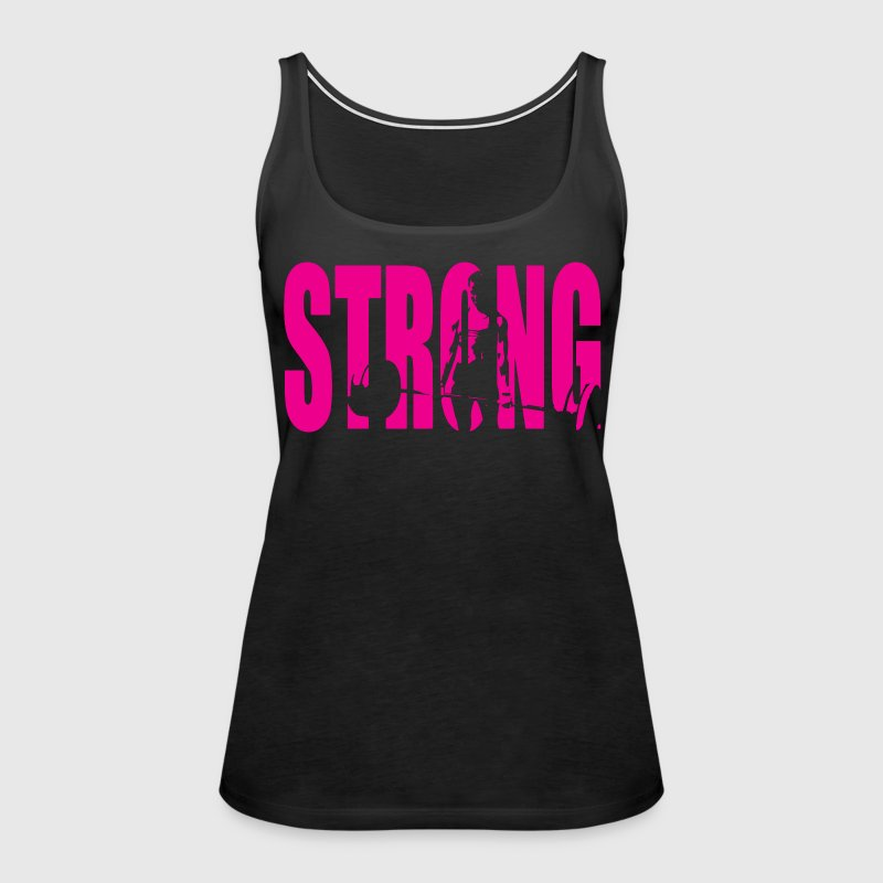 STRONG Girl Deadlift - Women's Premium Tank Top