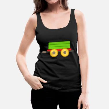 Freight Train eisenbahn zug tram train railroad railway locomoti - Women's Premium Tank Top