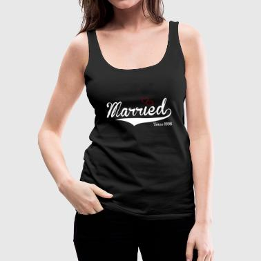 married since 1998 wedding day present - Women's Premium Tank Top
