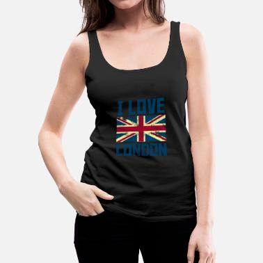 London I Love London Britsh Flag Country Design - Women's Premium Tank Top