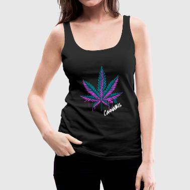 Cannabis Leaf Cannabis Grass Weed Gift - Women's Premium Tank Top