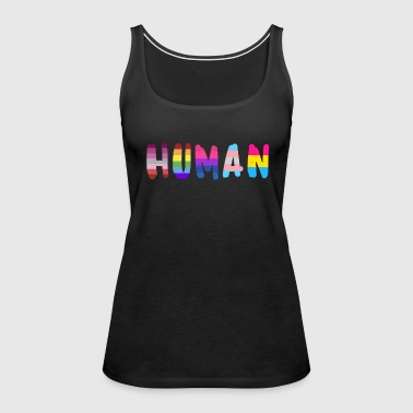 Human pride flag shirt rainbow shirt for women - Women's Premium Tank Top