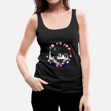 Queen London Lover Gift Christmas Birthday England - Women's Premium Tank Top