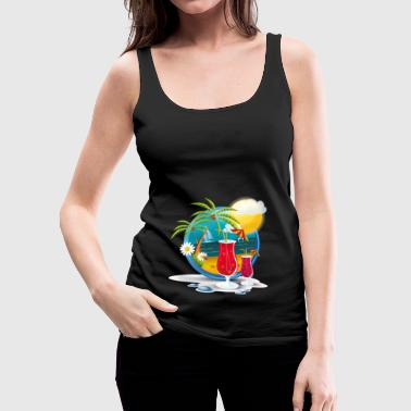 Beach Time - Women's Premium Tank Top