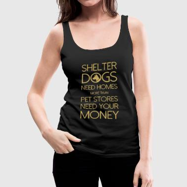 Shelter Dogs - Women's Premium Tank Top