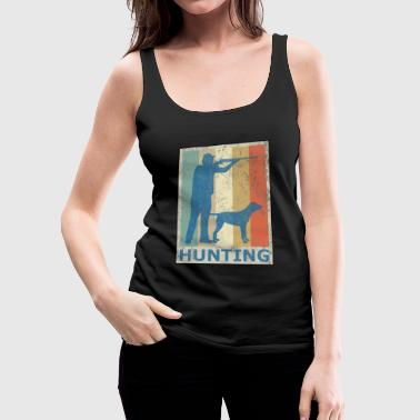 Retro Vintage Style Hunting Hunter Hunt Dog - Women's Premium Tank Top