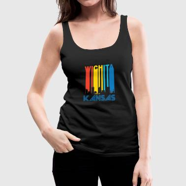 Retro Wichita Skyline - Women's Premium Tank Top