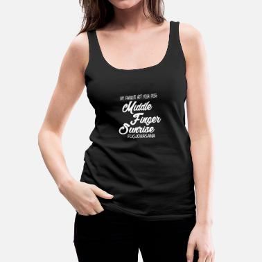 Index Finger Middle finger sunrise, Hot Yoga, gift, idea - Women's Premium Tank Top