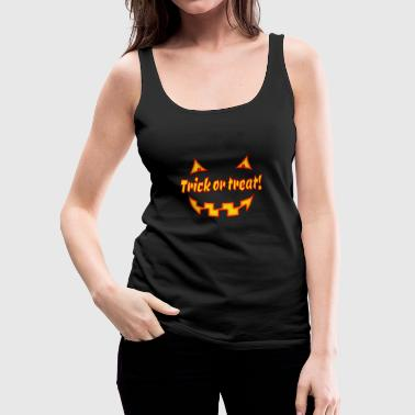 Undead Halloween trick or treat with pumpkinface - Women's Premium Tank Top