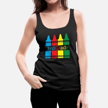 Grade 3rd Grade Back to School Crayons Colorful - Women's Premium Tank Top