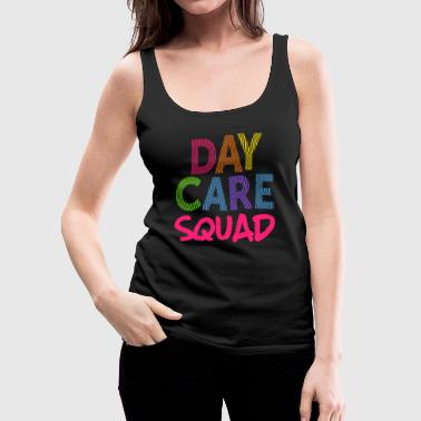 Daycare Squad Pink Light Gift Home Child Care Provider Teacher Gift - Women's Premium Tank Top