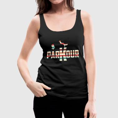 Awesome and Cool Parkour Tshirt Design Stripes Parkour - Women's Premium Tank Top