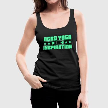 Lovely and Relaxing Acro Yoga Tshirt Design Acro Yoga Inspiration - Women's Premium Tank Top