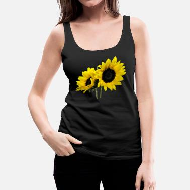 Sunflower Two Sunflowers - Women's Premium Tank Top