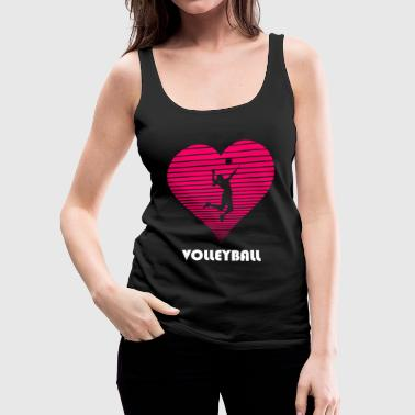 Volleyball girl woman lady hear love - Women's Premium Tank Top