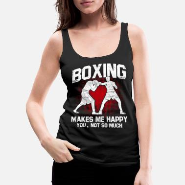Pain Boxing punch Hook protection sparring shadow - Women's Premium Tank Top